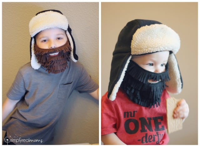 Kids' DIY Lumberjack Beards