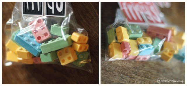 Lego shaped candy
