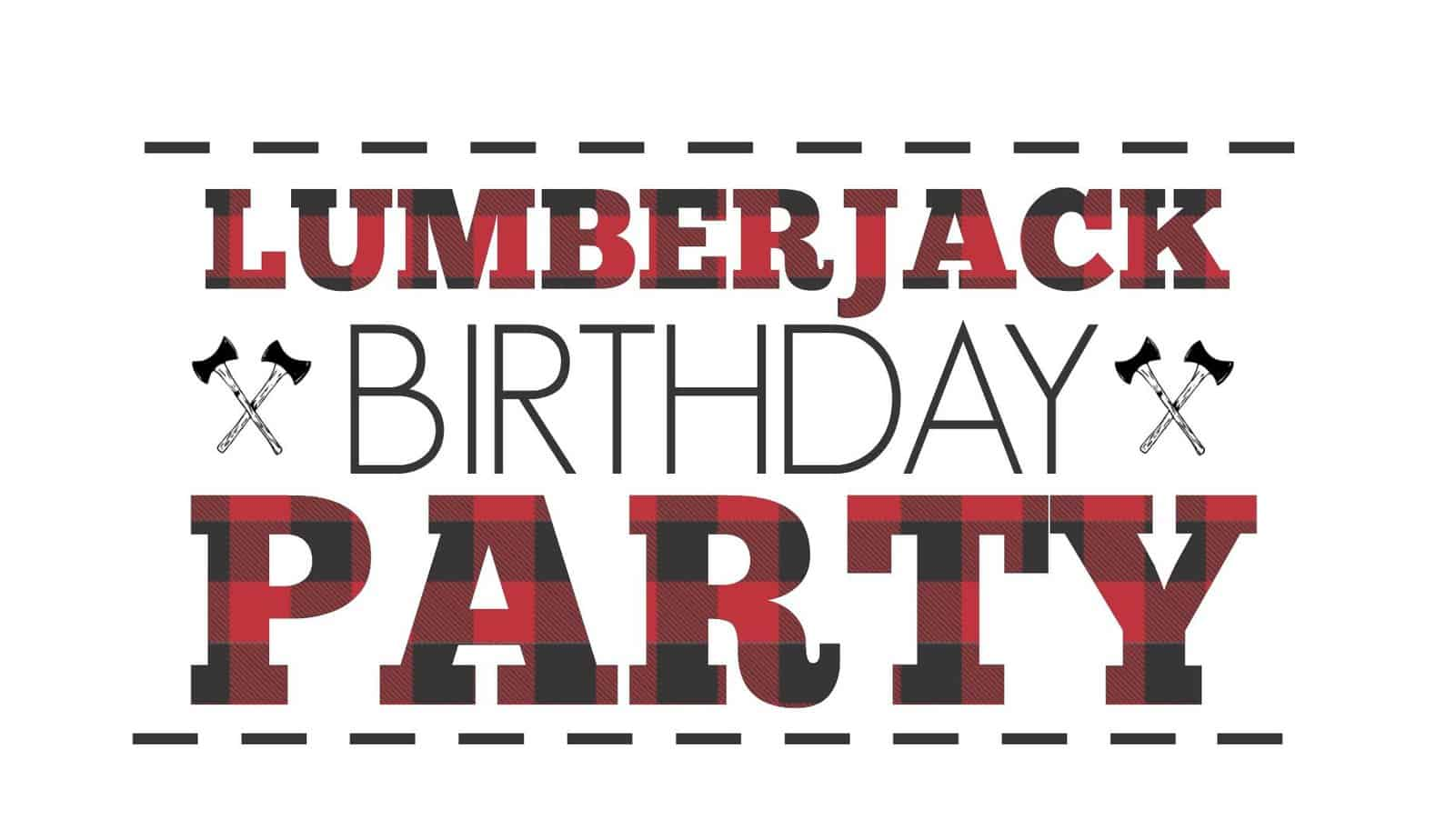 Lumberjack First Birthday Party 2