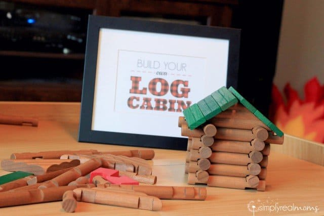 Lumberjack Party Log Cabin Building