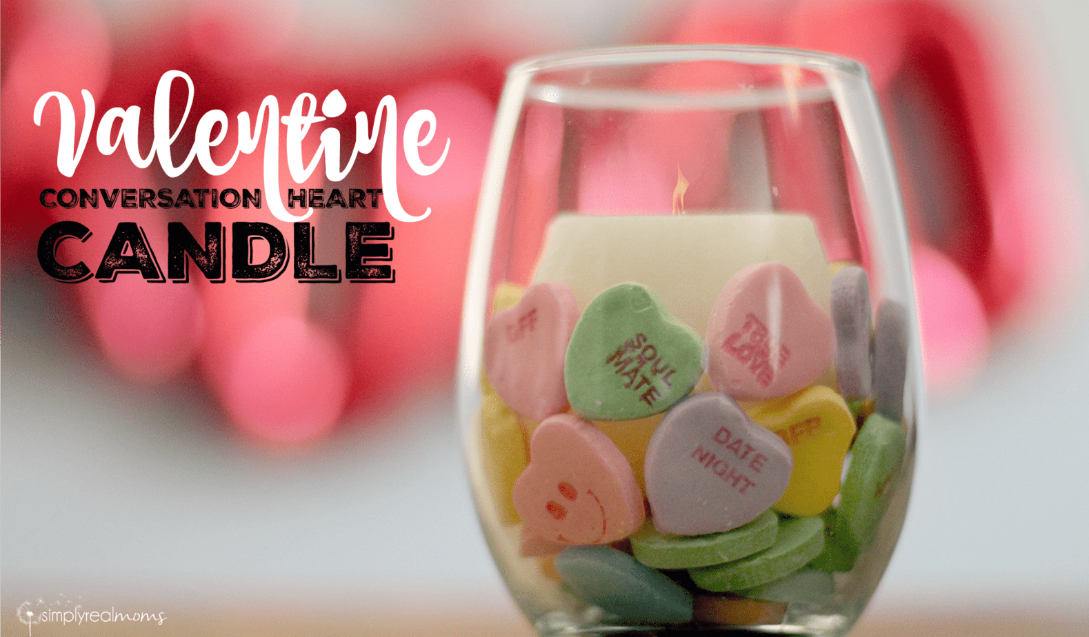Valentine Conversation Heart Candle 2