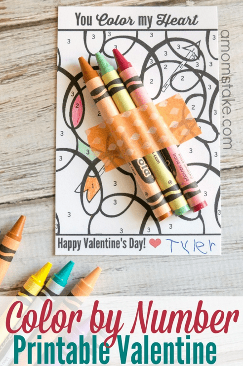 Valentine Printable Color By Number