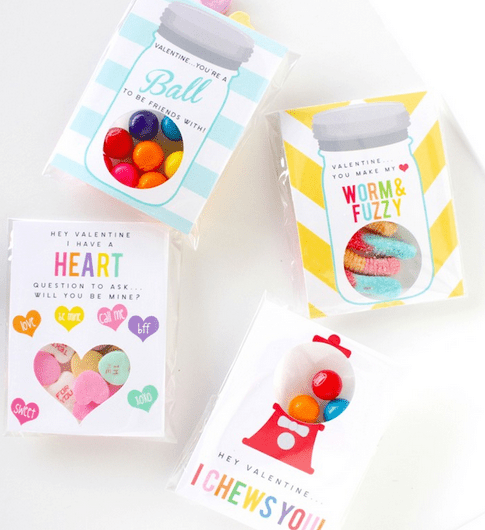 Valentine Printables DIY boxes