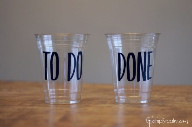Chore Chart Cups