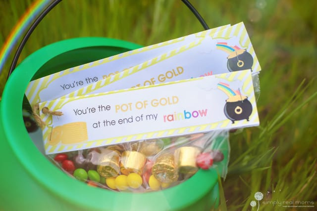 DIY St. Patrick's Day Pot of Gold Treat Bags