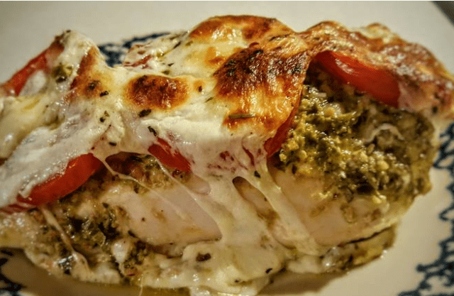 Pesto Caprese Chicken