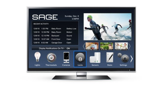 SAGE by Hughes - On the TV