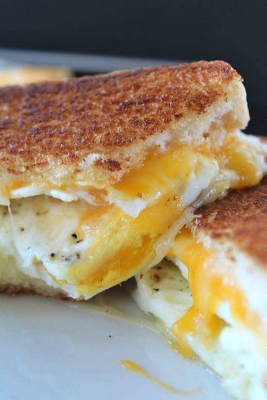 FRIED EGG GRILLED CHEESE SANDWICH