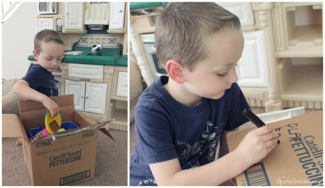 Have your kids help you pack boxes