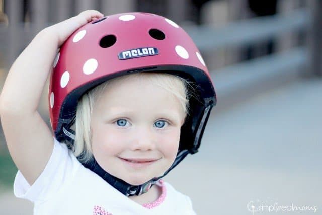 Melon Polka Dot Toddler Helmet