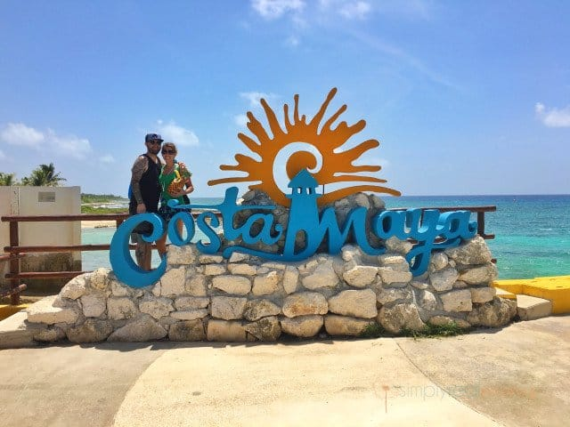 Costa Maya port sign