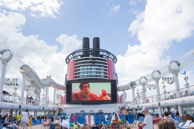 disney cruise wreck it ralph poolside