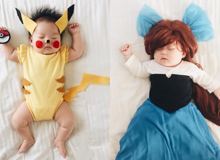 mom-dresses-up-her-baby-in-adorable-costumes-while-she-naps
