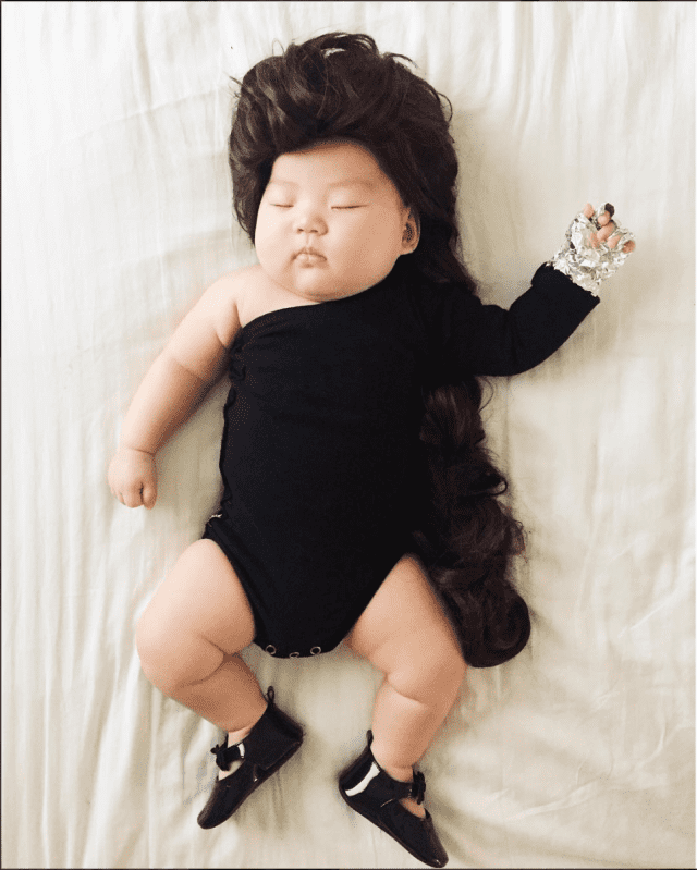 mom-dresses-up-her-baby-in-adorable-costumes-while-she-naps-beyonce