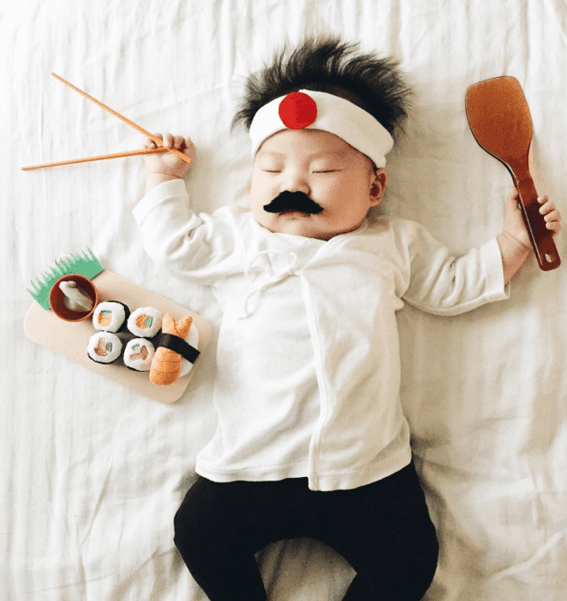 mom-dresses-up-her-baby-in-adorable-costumes-while-she-naps-sushi
