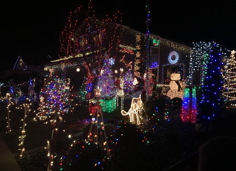 California Christmas.Best Christmas Lights Displays In Northern California