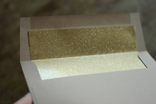 Gold Glitter Foil Envelope Inserts From Minted