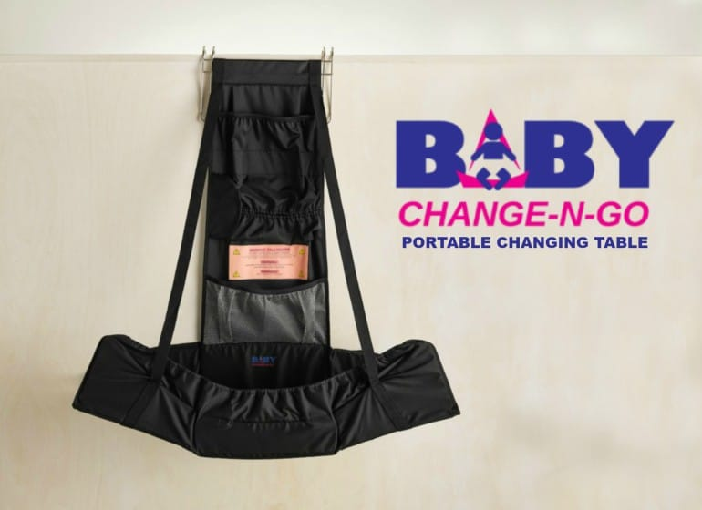 A Portable changing table-perfect for dads!