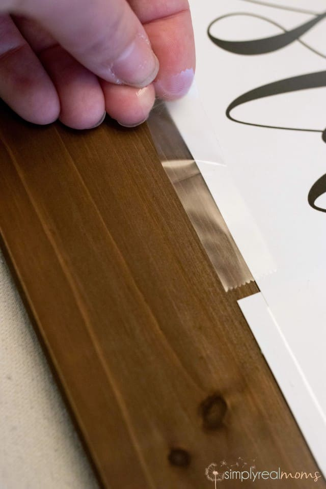 Applying Wooden Sign Template
