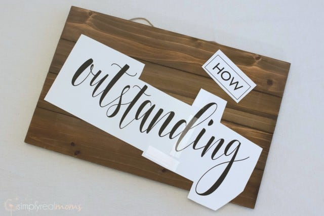 Wood sign template
