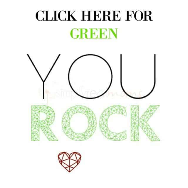 YOU ROCK GREEN