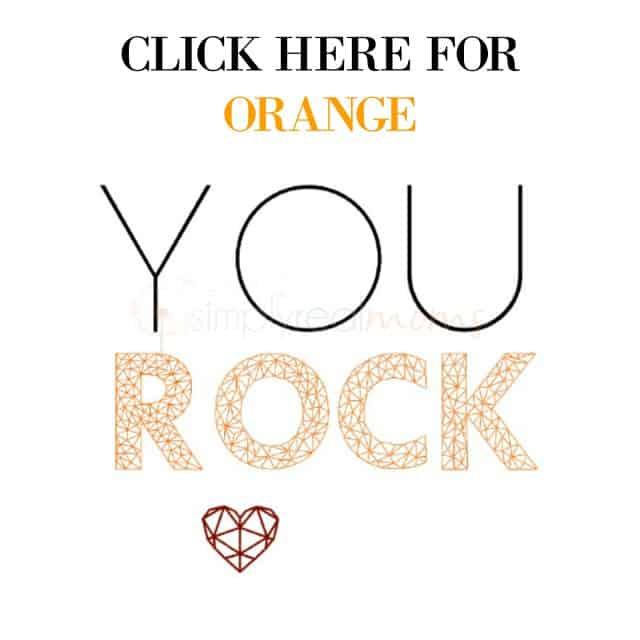 YOU ROCK ORANGE