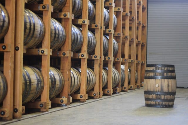 Frey Ranch Barrel room