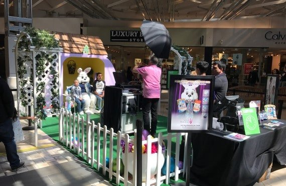 Easter Bunny is at the Great Mall