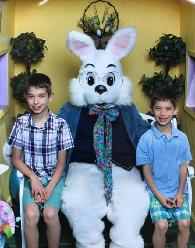 Visiting the Easter Bunny at the Great Mall