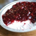 Delicious berry cheesecake dip