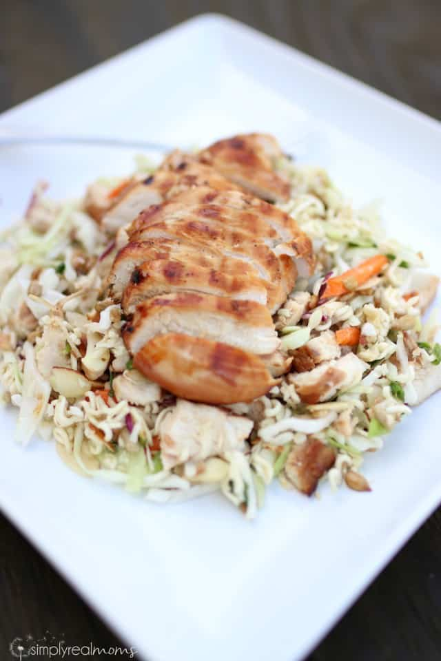 Asian Ramen Salad with Grilled Chicken