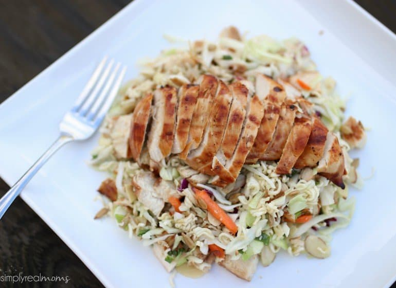 Ramen Salad with Grilled Chicken