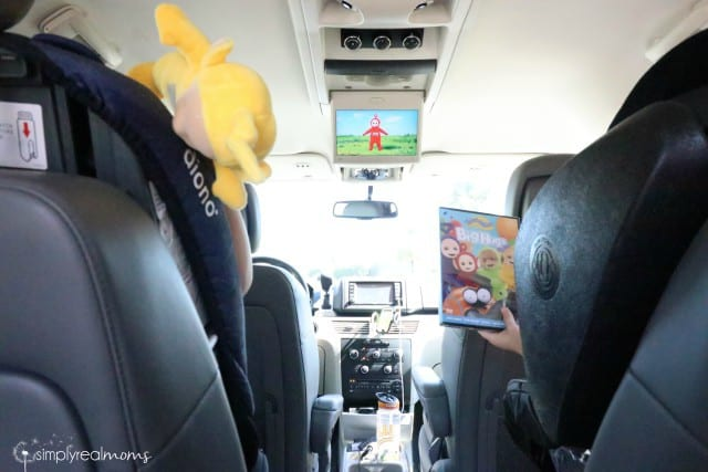 Teletubbies in the car