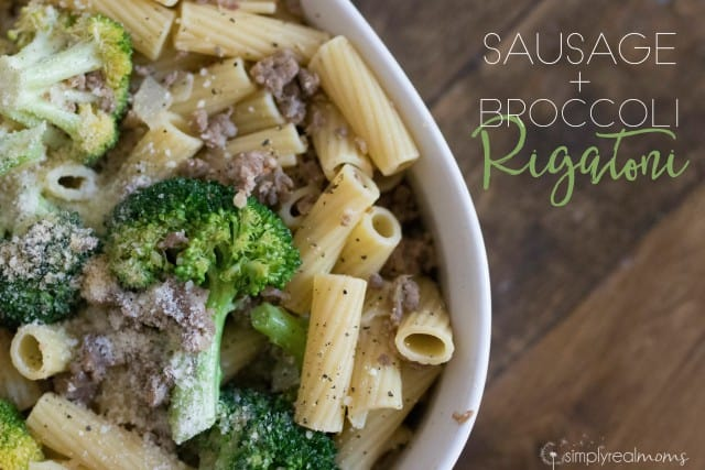 Sausage + Broccoli Rigatoni Simple and Delicious!
