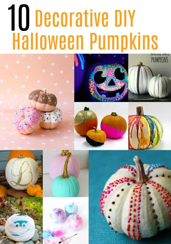 Decorative DIY Halloween Pumpkins