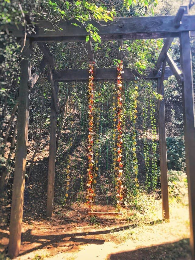 Swing & Floral Garland