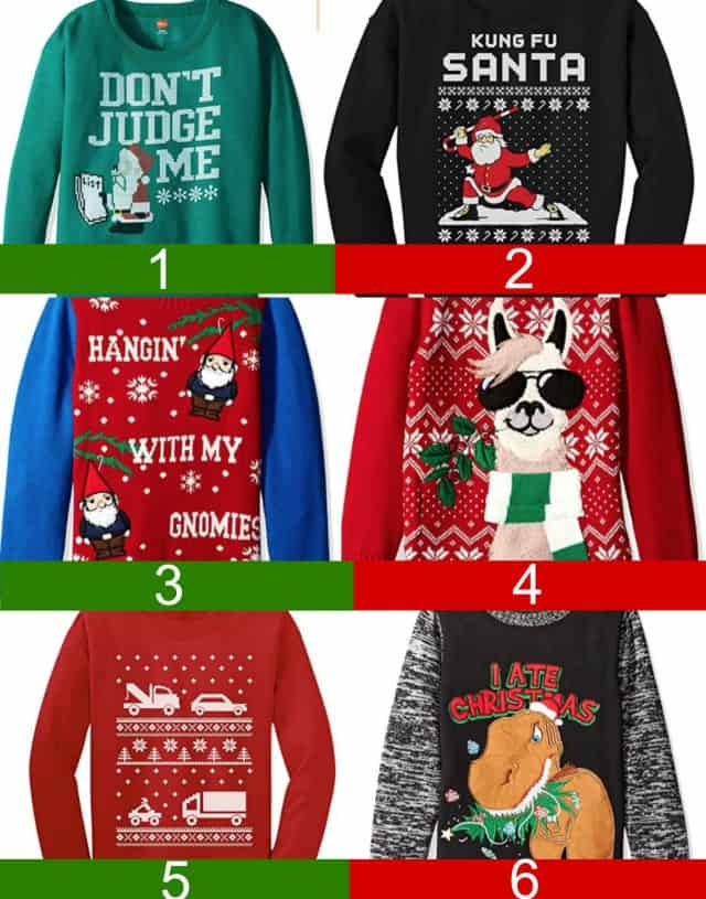 Boy's ugly christmas sweater