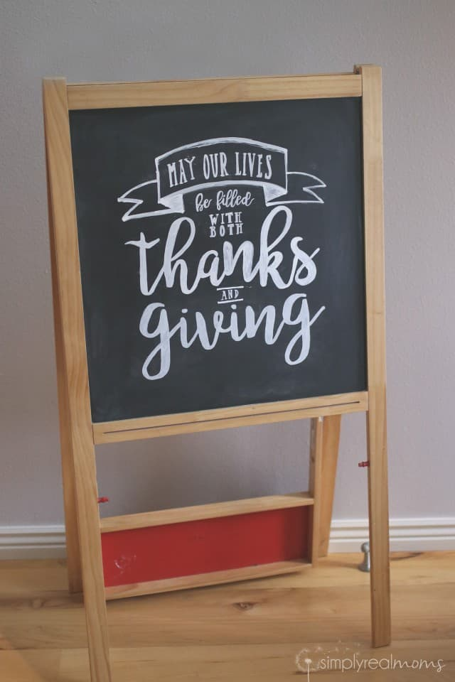 Gorgeous Thanksgiving Chalk Art Sign
