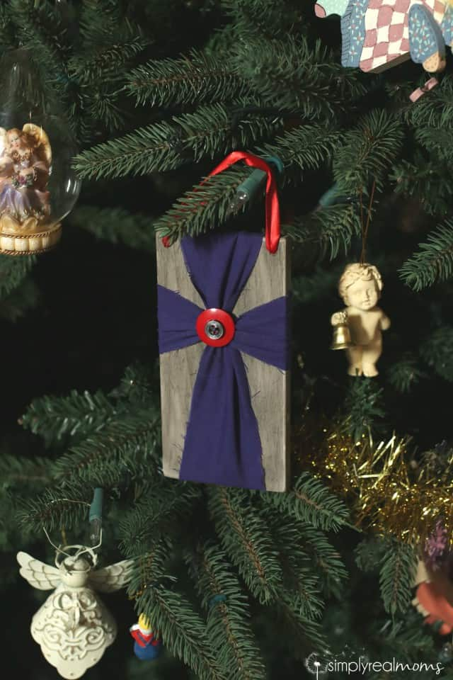 Memorial Christmas Ornament Cross
