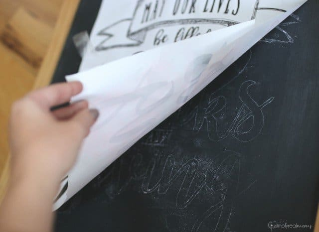 The secret to making chalk board art