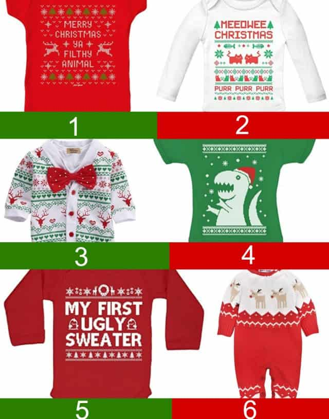 baby ugly christmas sweater