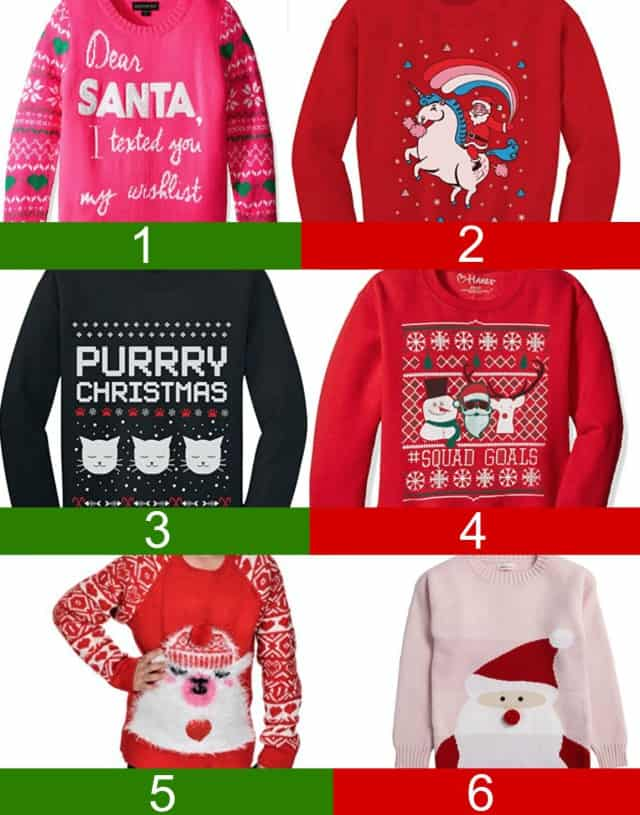 girl's ugly christmas sweater
