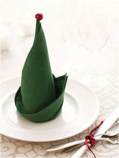 Elf Hat Folded Napkin