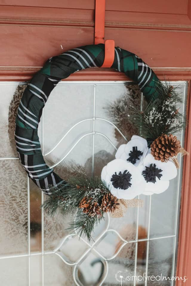 Green Winter Plaid Wreath