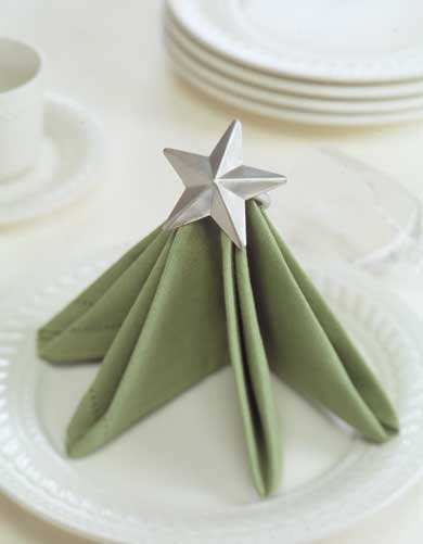 Wide Tree Folded Napkin