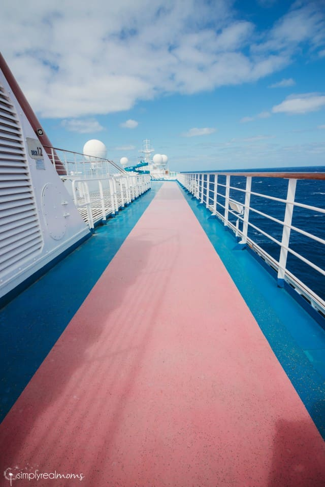 Carnival Splendor Walking Track