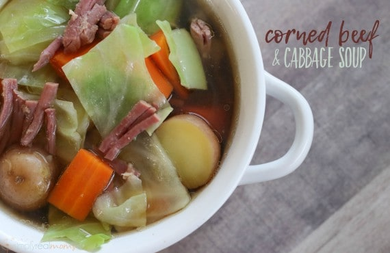 Corned Beef + Cabbage Soup