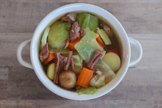 Corned Beef with Cabbage Soup