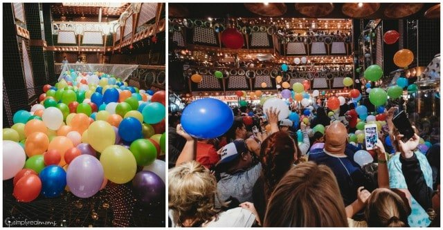 Debarkation balloon drop
