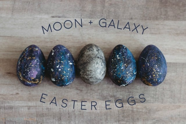 Moon + Galaxy Easter Eggs